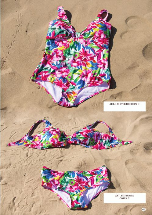 costume intero bikini coppa c fiori